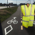 Les trois derniers Gilets Jaunes de Seine-et-Marne bloquent la piste cyclable d'Ozouer-le-Voulgis